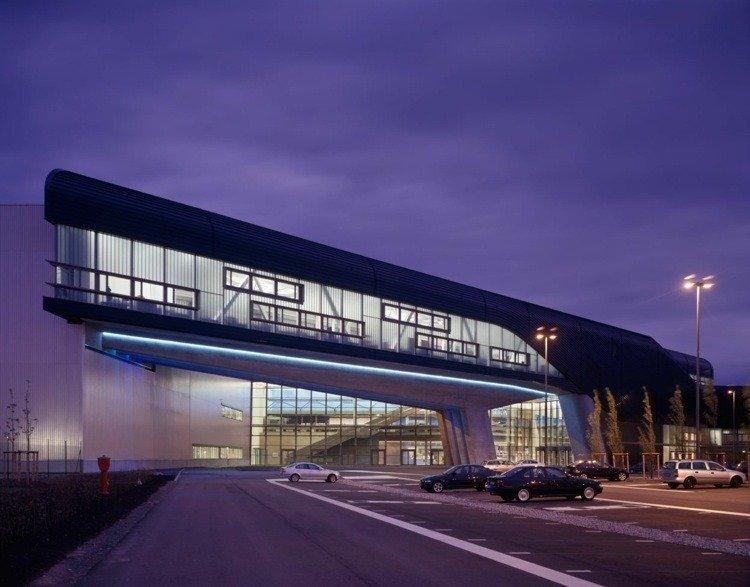 futuristic architecture lepzig modern building clean lines
