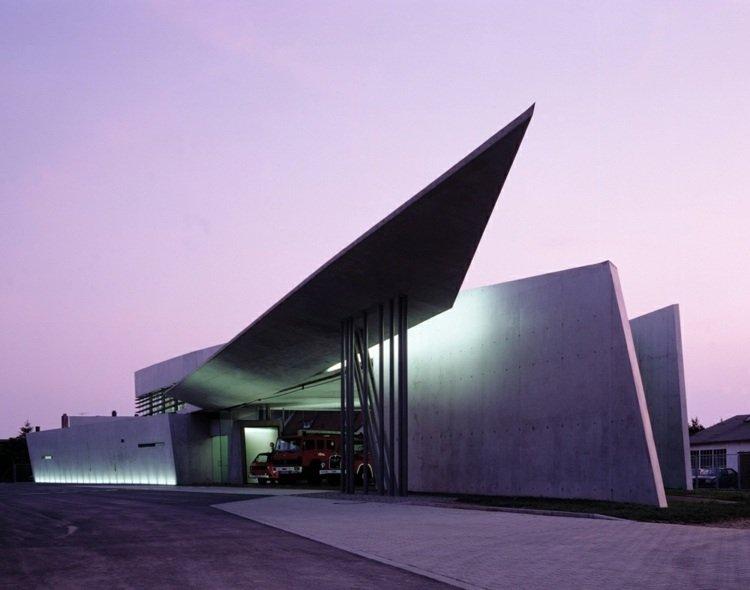 futuristic architecture zahaèhadid building angular forms exterior facade