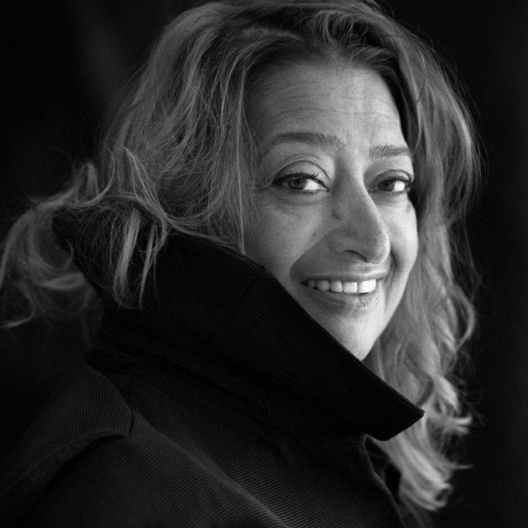 zaha hadid portrait black white architect irako british